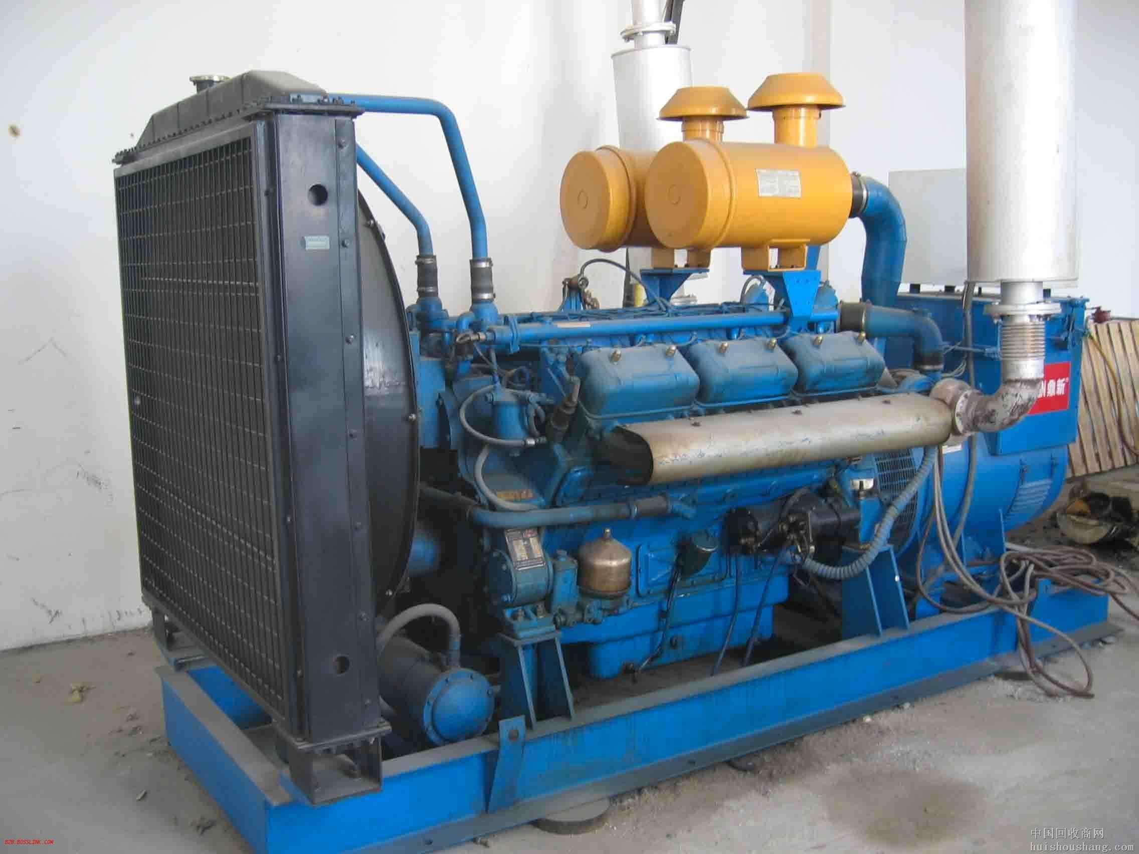 宁波蓝色二手发电机出售