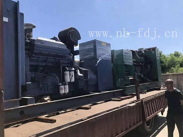 低噪音1000kw发电机组为宁波工厂发电