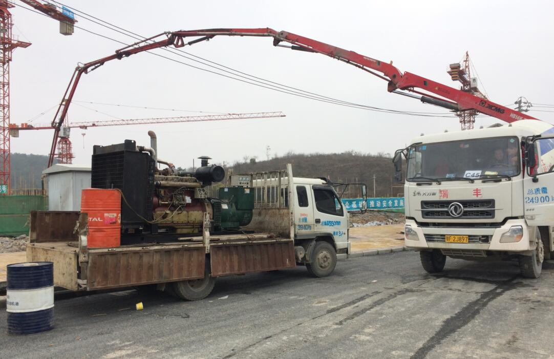 宁波大发集团项目应急发电现场