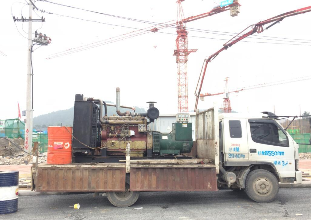 宁波某小区工地发电机出租案例